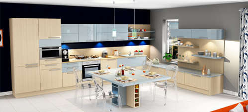 Amenagement cuisine 3d amenagement cuisine en l et si on for Agencement 3d gratuit